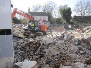 Croydon demolition underway