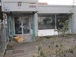 Petrol station demolition site