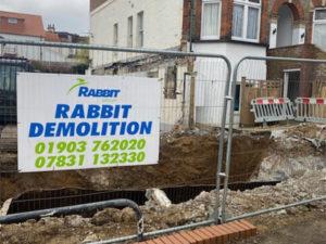 Demolition site in Croydon