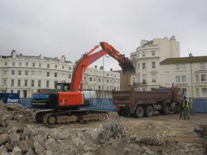 Demolition and excavation in Hove, Sussex
