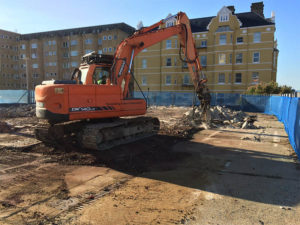 Site clearance in Hove, Sussex