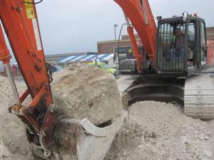 Excavation work in Hove, Sussex