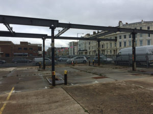 Petrol station forecourt for demolition - Hove, Sussex