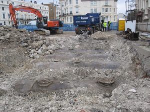 Petrol station site excavation - Hove, Sussex