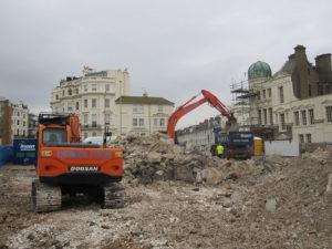 Demolition equipment in Hove, Sussex