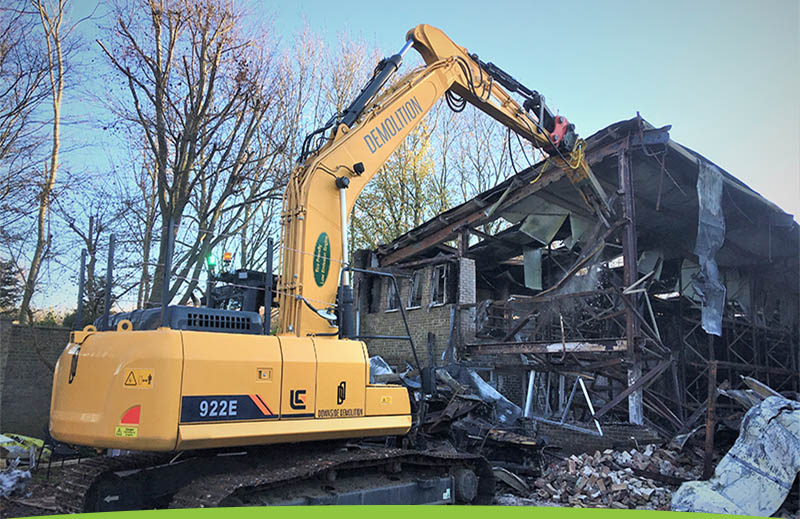 Demolition site in Lordswood, Kent