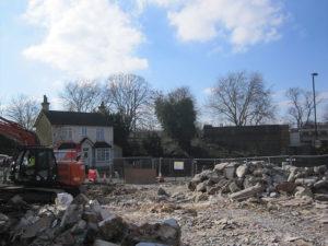 A demolition site after demolition