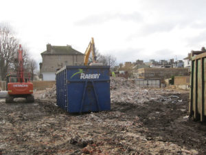 Demolition waste removal at Sussex County Cricket Ground