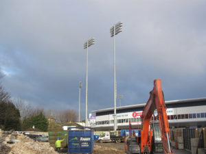 Demolition and excavation at Sussex County Cricket Ground