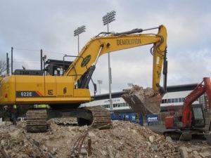 Excavation underway at Sussex County Cricket Ground