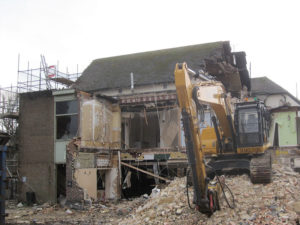 Sussex County Cricket Ground - Cricketers demolition site image