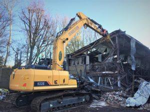 Emergency demolition work following fire