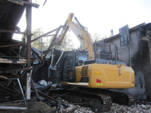 Demolition taking place in Lordswood, Kent